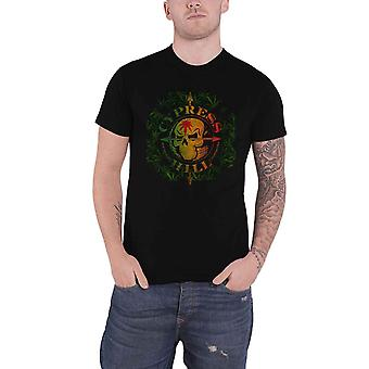Cypress Hill T Shirt South Gate Logo and Leaves new Official Mens Black