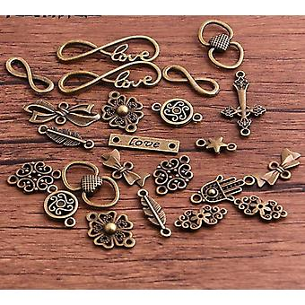 20pcs Metal Alloy Vintage Mix Jewelry Charms