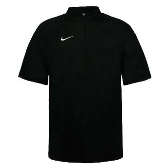 Nike Mens Manga Curta Rugby Top Collar Treinando Camiseta Preta 212006 012 A56B