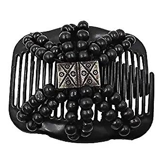 Wooden Beads Hair Comb Clip