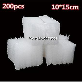 200pcs 100*150mm Plastic Wrap Envelope White Bubble Packing Bags Pe Clear