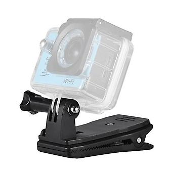 Backpack Strap Cap Clip Mount 360 Degree Rotary Clamp Arm