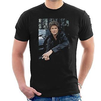 Knight Rider Michael Knight Headshot Män's T-shirt