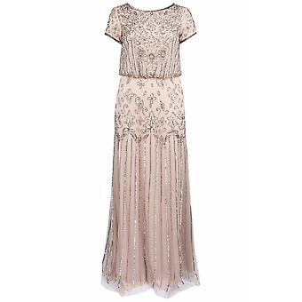 Full Beaded Blouson Gown