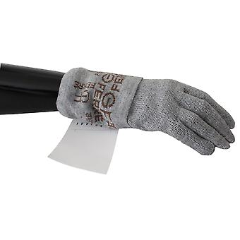GF Ferre Gray Elastic Wrist Length Mitten Gloves