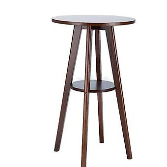 European Style Simple Solid Wood Small Bar Table Coffee Small Household Round