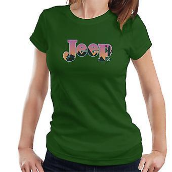 Jeep Desert Sunset Silhouette Logo Women's T-Shirt