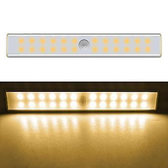 Rechargeable 24/40/60 Leds, Pir Motion Sensor Cabinet Light Bar