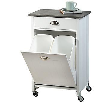 Fsc® carrello da cucina in legno mdf