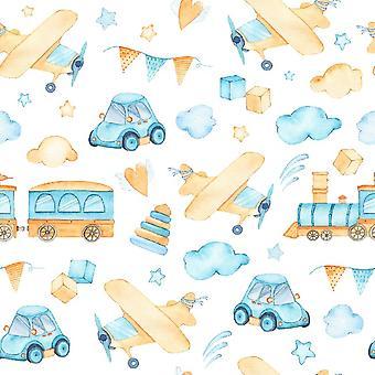 Baby Dream 4 Tapete Impresso Multicolorido em Poliéster, Algodão, L120xP180 cm