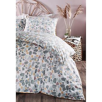Furn Terrazo Duvet Cover Set With Marble Stone Print Design