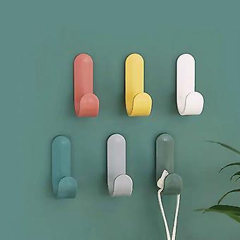 Itseliimautuva seinä ripustimet avaimenpidin seinä ripustimet hatun telineet pyyhe koukut seinä järjestäjä koti sisustus