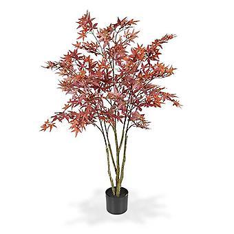Künstlicher Acer Kunstbaum 120 cm Burgunder