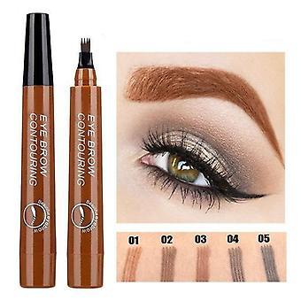 3d-microblading Eyebrow, Tattoo Pen With 4-fork Liquid Eyebrow Pencil, Eye