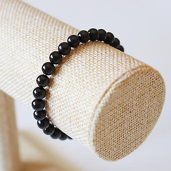 Bracelet En Tourmaline Noire – Perles 6mm