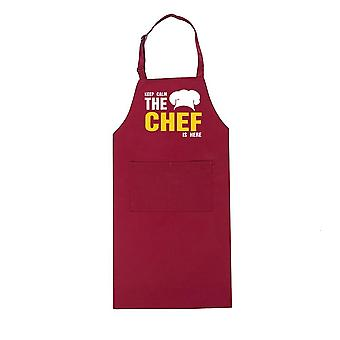 Funny Design Printed Adjustable Halter Long Aprons For Restaurant, Hotel Chef