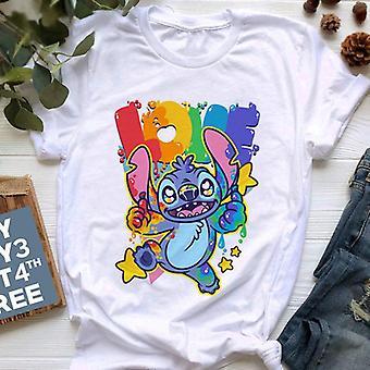 Disney Stitch Summer Cartoon T-shirt