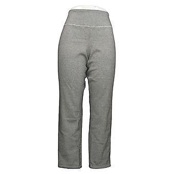 Vrouwen met Control Women's Petite Pants Reversibles Slim Leg Gray A390043