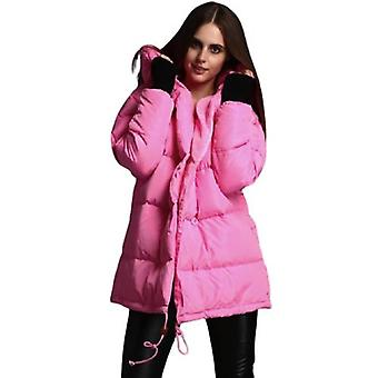 Autumn And Winter New Cocoon Type Loose Plus Size Mid-length Women's Down Jacket