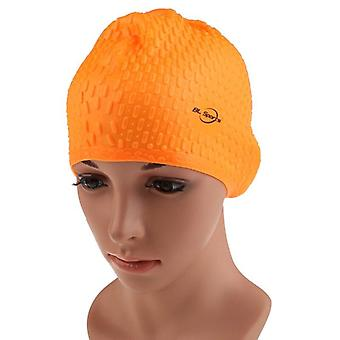 Unisex adults silicone waterproof swimming caps