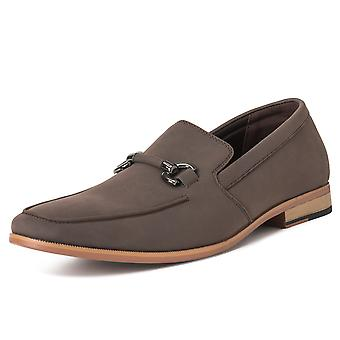 Mens Queensberry Charles Penny Moccasin Driving Office Comfort LoafersUK 6-14