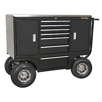 Sealey Appc07 Pit/Yard Cart 7 Drawer Heavy-Duty