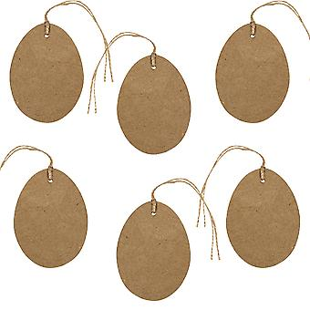 6 10cm Paper Mache Hanging Easter Egg Shapes to Decorate