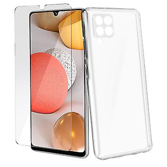 Case Samsung A42 5G Soft and Glass Hard 9H 4Smarts Clear