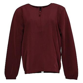 StyleList By Micaela Women's Soft Zip Jacket Red A388855