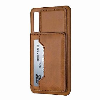 Soft Leather Case for Samsung Galaxy A50 - Brown