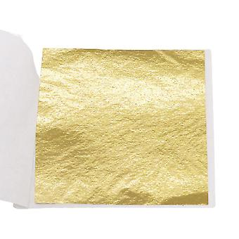100pcs Slip Films Diy Gold Foil Paper Double Sided Decor Leaf Gilding Paper