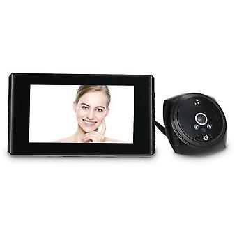 1.3MP Peephole Door Camera 4.3 Inch Color LCD Screen Monitor Video Door Viewer Door Eye Doorbell  PIR Motion Detection Photo Taking/Video Recording for Home Security