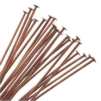 Lopullinen myynti - Pään tapit, 2 tuumaa pitkä ja 24 gauge paksu, 24 kappaletta, antiikki kupari