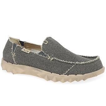 Hey Dude Farty Natural Mens Canvas Shoes