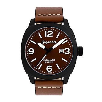 Gigandet G9-001 - Montre homme avec bracelet en cuir brun
