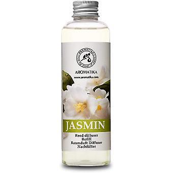 FengChun Aromatika Raumduft Nachfüllflasche Jasmin 200ml - Nachfüller mit Naturreinem Ätherischen