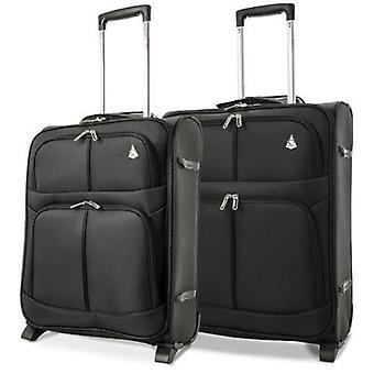 Aerolite (56x45x25cm) lightweight cabin hand luggage (x2 set)   2 wheels