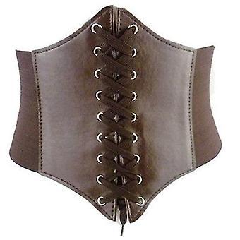 Women Fashion Elastic Extra Wide Tight Corset Tie High Waist Slimming Belt