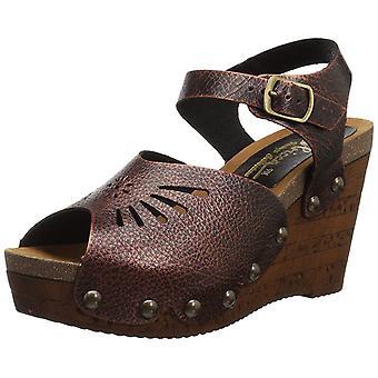 Sbicca Womens Langsa Leather Peep Toe Casual Platform Sandals