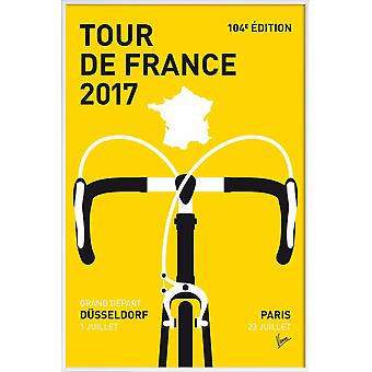 JUNIQE Print - Tour de France 2017 - Cycling Poster in Yellow & Black