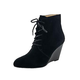 Isaac Mizrahi Live US Womens Andrea Suede Lace Up Boot Shoes