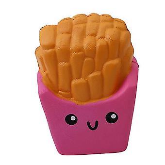 Vaaleanpunaiset ranskalaiset muotoillut, litteä stressin lievittäjä hauska lelu az617