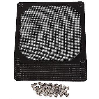 Für 10pcs 80mm Metall PC Computer Chassis Fan Case Strainer Staubdicht Filter Schwarz WS4956
