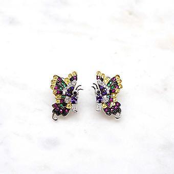 Clous d'oreilles Niiki Paris - NJE525 -Multicolor Butterfly
