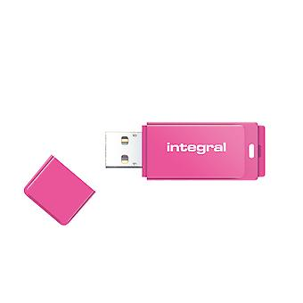 Integral 16GB USB2.0 Memory Flash Drive (Memory Stick) Neon Pink