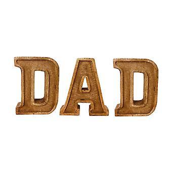 Ręcznie rzeźbione drewniane wytłaczane listy tata