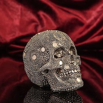 Diamante Schedel Ornament met Spiegel Mozaïek Details