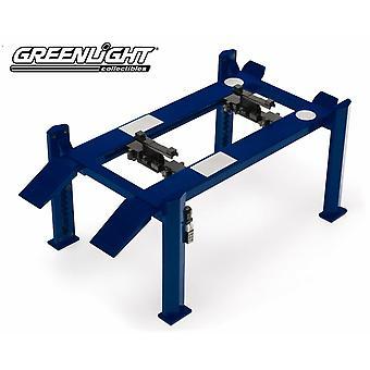 Elevación ajustable de cuatro postes azul 1:18 Escala Greenlight 12884