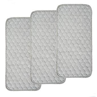 Composite Bamboo Fiber Thicker Changing Pad Liners, Waterproof, 3 Count
