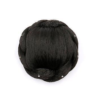 Synthetische Chignon Hairpiece Bun Haarspeld met Diamant